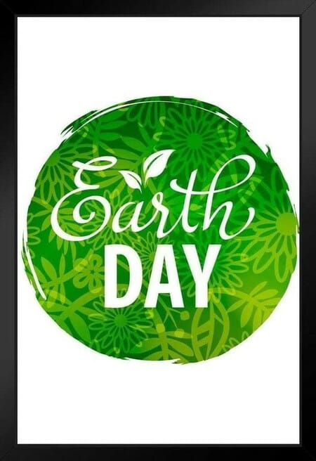 Earth Day Planet Go Green Conservation Environmental Art Print