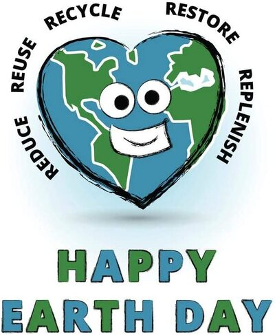 Laminated Happy Earth Day Go Green Reduce Reuse Recycle Restore Conservation