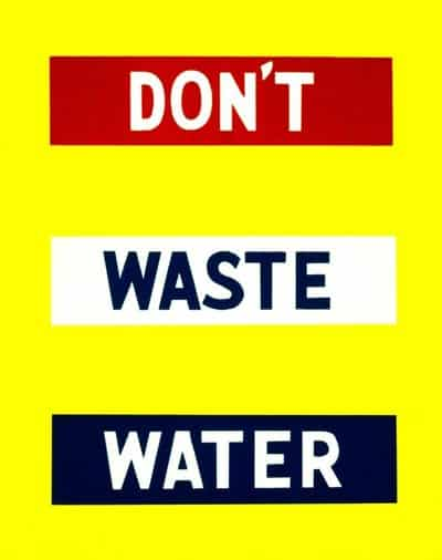 WWII Water Conservation FAP Poster