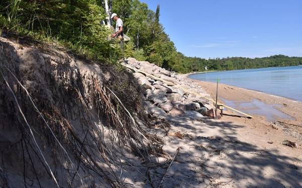 Prevent Lake Erosion Using Seawall