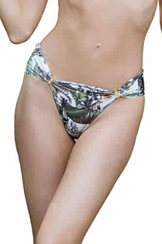 Animal Print Brazilian Bikini Bottom