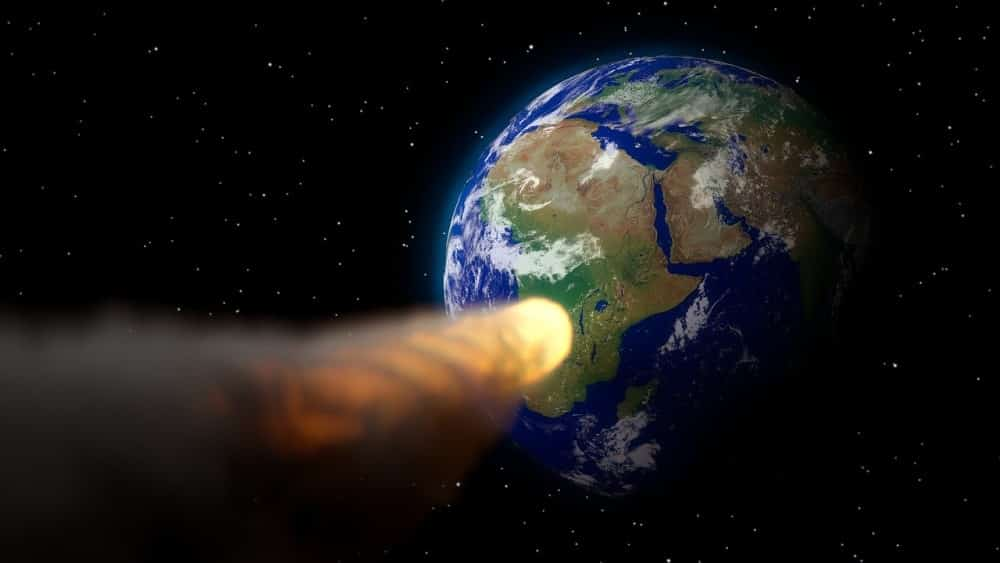 Meteor hurtling towards the earth