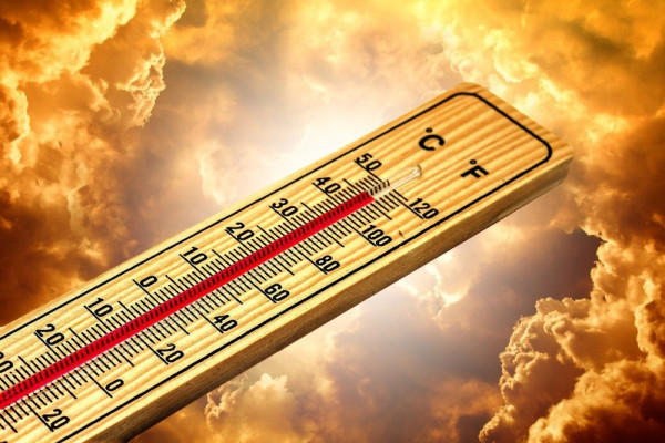 Thermometer measuring climate change