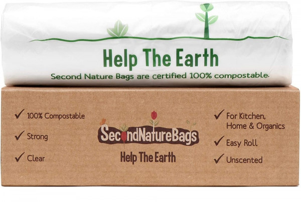 Second Nature Bags 100% Compostable Trash Bags