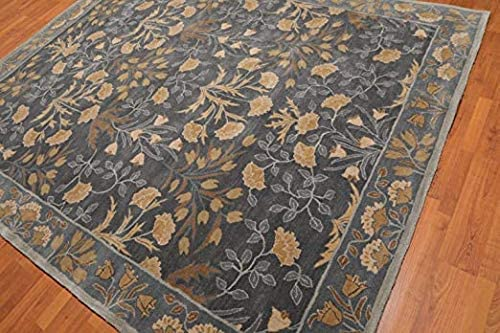 Floral Blue Tulip Traditional Persian Area Rugs