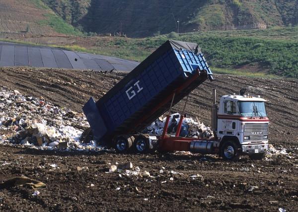 dump truck - landfill